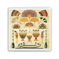 Egyptian Paper Papyrus Hieroglyphs Memory Card Reader (square)