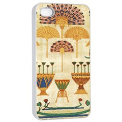 Egyptian Paper Papyrus Hieroglyphs Apple Iphone 4/4s Seamless Case (white)