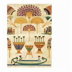 Egyptian Paper Papyrus Hieroglyphs Large Garden Flag (two Sides)