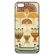 Egyptian Paper Papyrus Hieroglyphs Apple Iphone 5 Seamless Case (black)