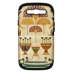 Egyptian Paper Papyrus Hieroglyphs Samsung Galaxy S Iii Hardshell Case (pc+silicone)