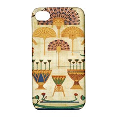 Egyptian Paper Papyrus Hieroglyphs Apple Iphone 4/4s Hardshell Case With Stand
