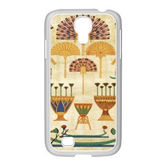 Egyptian Paper Papyrus Hieroglyphs Samsung Galaxy S4 I9500/ I9505 Case (white)
