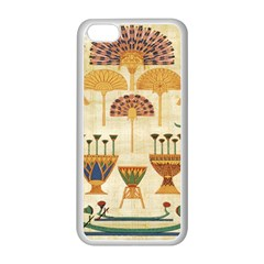 Egyptian Paper Papyrus Hieroglyphs Apple Iphone 5c Seamless Case (white)
