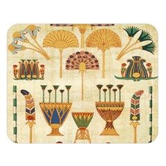 Egyptian Paper Papyrus Hieroglyphs Double Sided Flano Blanket (large)
