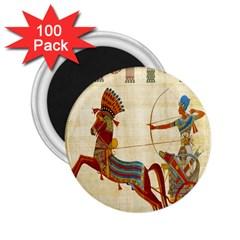 Egyptian Tutunkhamun Pharaoh Design 2 25  Magnets (100 Pack)