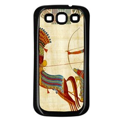 Egyptian Tutunkhamun Pharaoh Design Samsung Galaxy S3 Back Case (black)