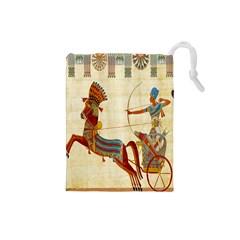 Egyptian Tutunkhamun Pharaoh Design Drawstring Pouches (small)