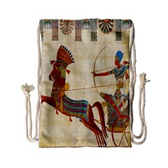 Egyptian Tutunkhamun Pharaoh Design Drawstring Bag (small)