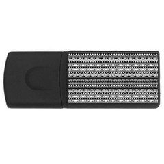 Zentangle Lines Pattern Rectangular Usb Flash Drive