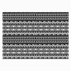 Zentangle Lines Pattern Large Glasses Cloth (2 Side)