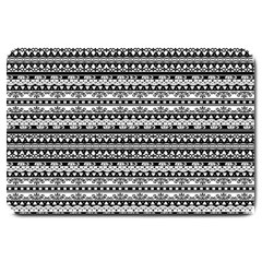 Zentangle Lines Pattern Large Doormat