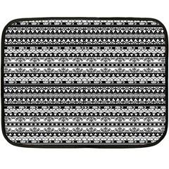 Zentangle Lines Pattern Double Sided Fleece Blanket (mini)