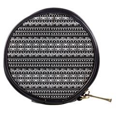 Zentangle Lines Pattern Mini Makeup Bags