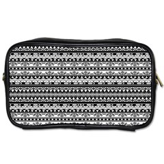 Zentangle Lines Pattern Toiletries Bags 2 Side