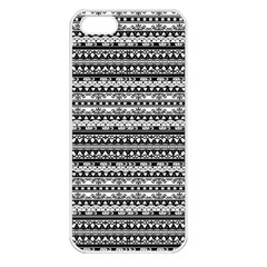 Zentangle Lines Pattern Apple Iphone 5 Seamless Case (white)