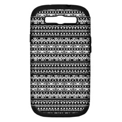 Zentangle Lines Pattern Samsung Galaxy S Iii Hardshell Case (pc+silicone)