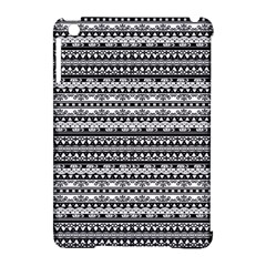 Zentangle Lines Pattern Apple Ipad Mini Hardshell Case (compatible With Smart Cover)