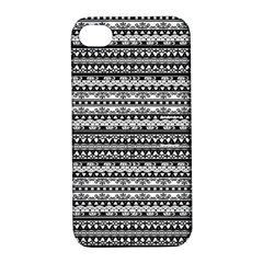 Zentangle Lines Pattern Apple Iphone 4/4s Hardshell Case With Stand
