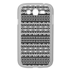 Zentangle Lines Pattern Samsung Galaxy Grand Duos I9082 Case (white)