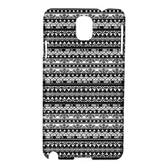 Zentangle Lines Pattern Samsung Galaxy Note 3 N9005 Hardshell Case