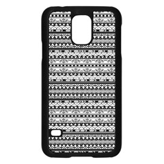 Zentangle Lines Pattern Samsung Galaxy S5 Case (black)