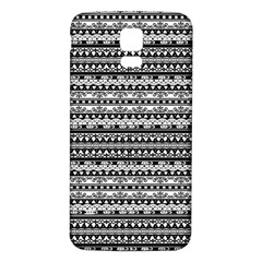 Zentangle Lines Pattern Samsung Galaxy S5 Back Case (white)