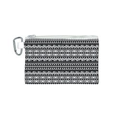 Zentangle Lines Pattern Canvas Cosmetic Bag (s)