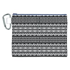 Zentangle Lines Pattern Canvas Cosmetic Bag (xxl)