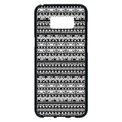 Zentangle Lines Pattern Samsung Galaxy S8 Plus Black Seamless Case