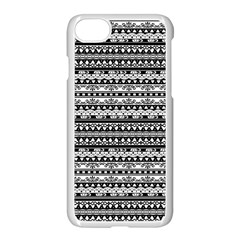 Zentangle Lines Pattern Apple Iphone 8 Seamless Case (white)