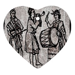 Man Ethic African People Collage Ornament (heart)