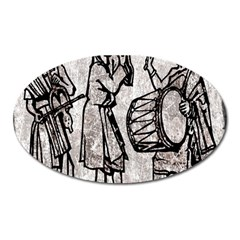Man Ethic African People Collage Oval Magnet