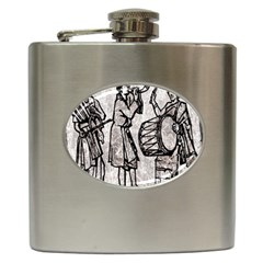 Man Ethic African People Collage Hip Flask (6 Oz)