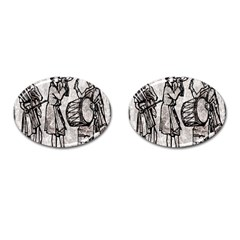 Man Ethic African People Collage Cufflinks (oval)