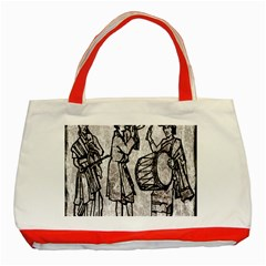 Man Ethic African People Collage Classic Tote Bag (red)