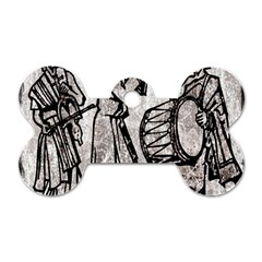 Man Ethic African People Collage Dog Tag Bone (one Side)