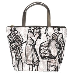 Man Ethic African People Collage Bucket Bags