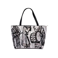 Man Ethic African People Collage Shoulder Handbags