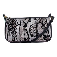 Man Ethic African People Collage Shoulder Clutch Bags