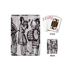 Man Ethic African People Collage Playing Cards (mini)