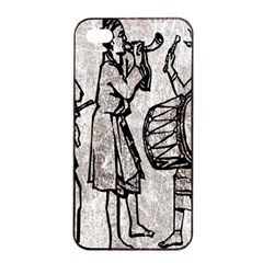 Man Ethic African People Collage Apple Iphone 4/4s Seamless Case (black)