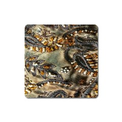 Texture Textile Beads Beading Square Magnet