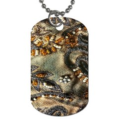 Texture Textile Beads Beading Dog Tag (one Side)