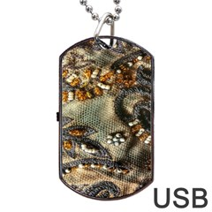 Texture Textile Beads Beading Dog Tag Usb Flash (one Side)