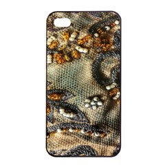 Texture Textile Beads Beading Apple Iphone 4/4s Seamless Case (black)