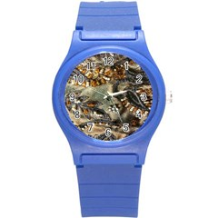 Texture Textile Beads Beading Round Plastic Sport Watch (s)