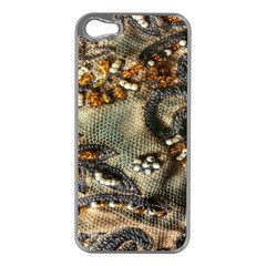 Texture Textile Beads Beading Apple Iphone 5 Case (silver)