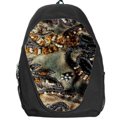 Texture Textile Beads Beading Backpack Bag