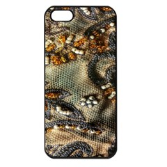 Texture Textile Beads Beading Apple Iphone 5 Seamless Case (black)
